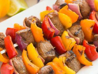 Air fryer Steak Kabobs